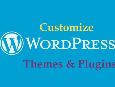 Customize WordPress Themes/Plugins