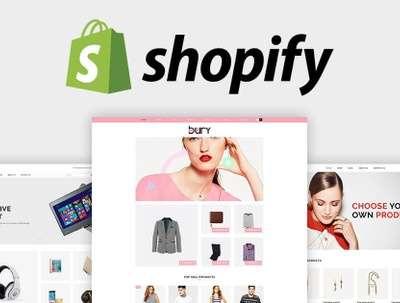 Setup shopify store or shopify website design