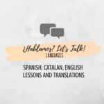 ¿Hablamos? Let's Talk! Languages